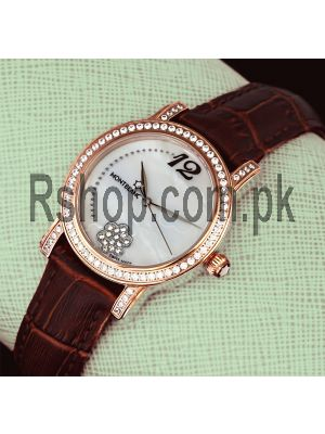 MontBlanc Diamond Bezel Ladies Strap Watch Price in Pakistan