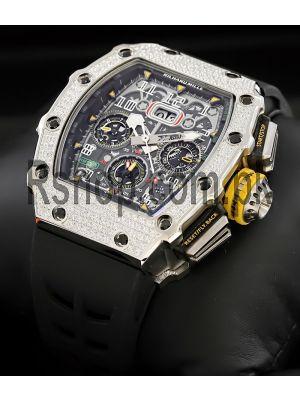 Richard Mille Rm11-03 Big Date Flyback Chronograph Diamond Skeleton Watch Price in Pakistan