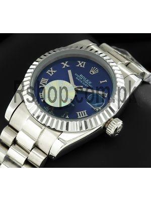 Rolex Datejust Blue Roman Numeral Dial Watch Price in Pakistan