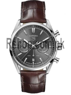 Tag Heuer Carrera Calibre Heuer 02 42mm Grey Chronograph Watch Price in Pakistan