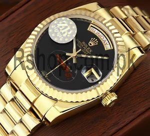 Rolex Day-Date Onyx Dial Swiss Watch Price in Pakistan