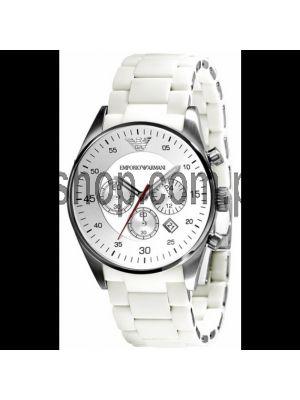 Emporio Armani Chronograph Sport White Dial Mens Watch Price in Pakistan