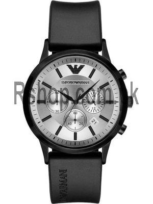 Emporio Armani Men's Quartz with Black Silicone Strap Watch Price in Pakistan