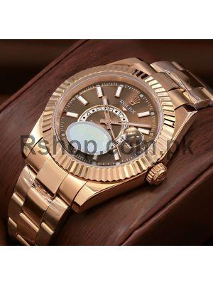 Rolex Sky Dweller Rose Gold Men's Watch